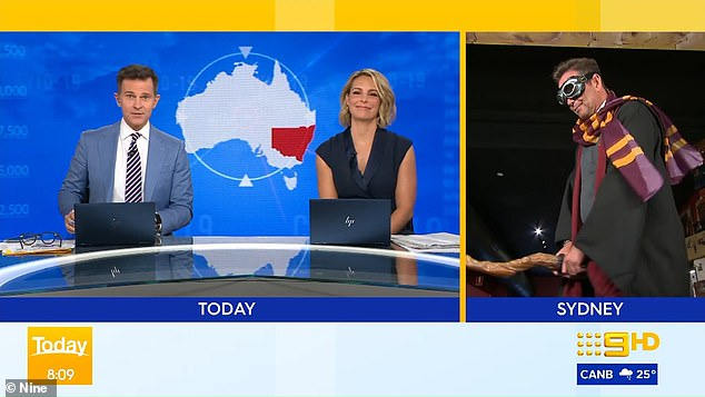 Any second thoughts? As the segment came to a close, host David Campbell couldn't help but advise Steve: 'I want you to go back and watch this segment. Just watch what you are doing and get back to us'
