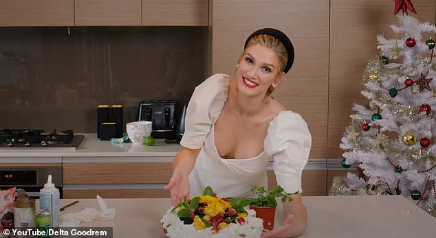 What she's been up to: She won't be returning to The Voice's judging panel in the new year. But being dropped from the singing competition series has not stopped Delta Goodrem (pictured), 36, from having a smile on her face as she celebrates the festive season