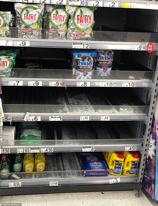 Washing powers and products also appeared to be popular products with shoppers who flocked to the shops this morning