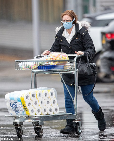 This woman stocked up on toilet roll