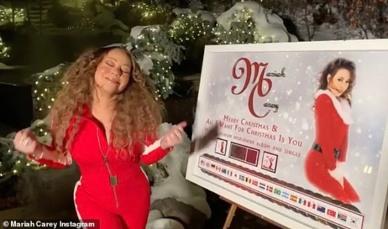Queen of Christmas: 'I'm going crazy!  This is amazing.  I haven't seen this until now, okay?  she hissed