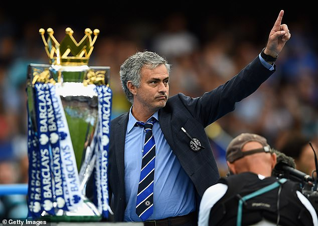 Jose Mourinho's most recent Premier League title came at former club Chelsea back in 2015