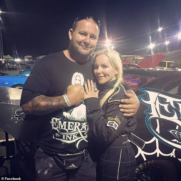 Amanda Martin's Facebook page is flooded with photos of husband Nick (pictured together)