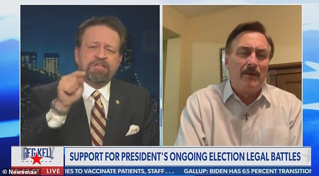 SebastianGorka, who serv(r a fellow Trump supporter, while filling in for Newsmax anchor Greg Kelly on Monday night.
