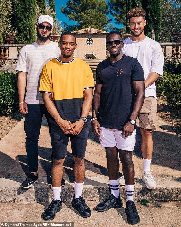 Painful: Myles witnessed bandmate Mustafa Rahimtulla suffer online abuse before taking some time away from the group (L-R, Rak-Su stars Mustafa Rahimtulla ,Jamaal Shurland, Ashley Fongho and Myles Stephenson)