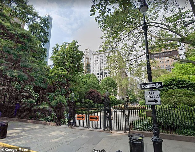 Tashaun Walls, 27, has been charged with attempted rape, predatory sexual assault and other counts for allegedly attacking a six-year-old girl inside an apartment building in the Gramercy Park section of Manhattan in November (stock photo of Gramercy PArk)