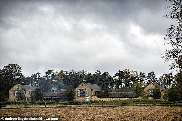 It is the Beckhams' latest planning application after they were given the green light to build a wine cellar and guard house. Pictured: The 6.15m Cotswolds estate, Great Tew, Oxfordshire