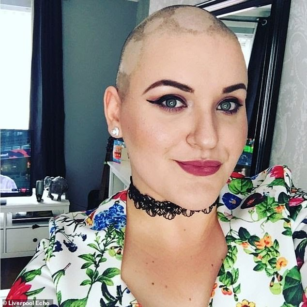 Toni Standen, 29, of Widnes, Cheshire, shaved her head to fool her friends she was terminally ill