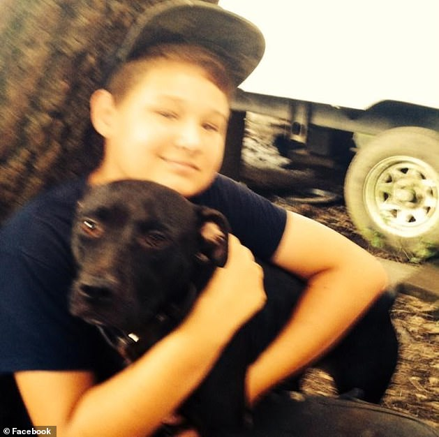 According to family spokeswoman Charles, the teenage boy was picked up by Irvin and her 17-year-old son Gavin (pictured) at home in the nearby town of Baldwin on the afternoon of October 30