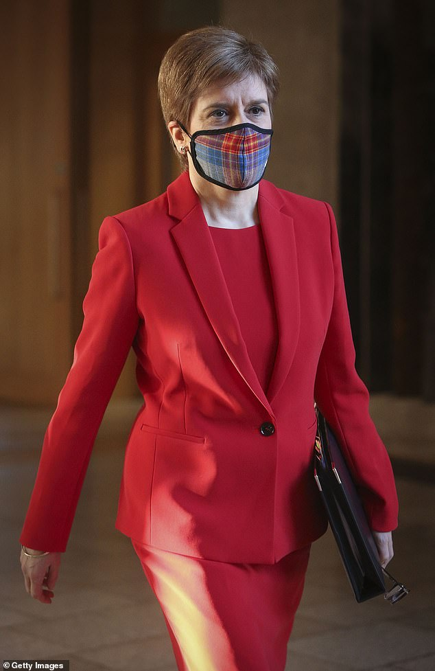 Scotland's First Minister, who has long preached of how vital it is to wear a face covering in public, was seen without one at a venue in Edinburgh last week