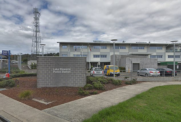 A man, 77, has been arrested and taken to Lake Illawarra Police Station (pictured) for allegedly sexually touching young girls at a public swimming pool