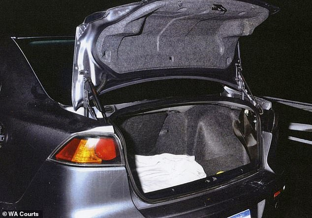 After Newton left the car to make a phone call, Mr Barr flagged down nearby police officers who discovered the body in the boot (pictured)