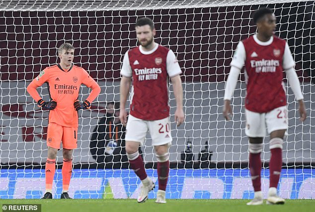 It was more misery for Arsenal on Tuesday as Man City dumped them out of the Carabao Cup
