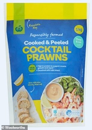 WoolworthsCooked and Peeled Cocktail Prawns 1kg have been recalled