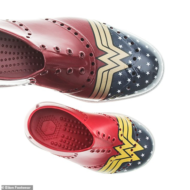 Official footwear:The shoe was named the, 'Official Footwear of Wonder Woman 1984,' with fans now able to pre-order at BiionFootwear.com , ahead of the movie's December 25 release