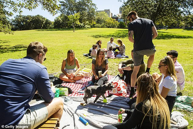 Gatherings of up to 100 are still allowed outside in a public place such as at a beach or a park. However, this excludes those in the Northern Beaches which is still in lockdown