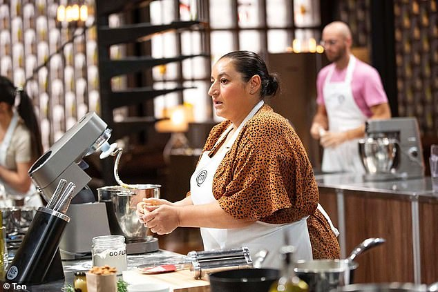 Tragic: Paying tribute on Wednesday, she described George as her 'best friend' and a 'gentle, sweet, honourable, fiercely protective, loving and strong man'. Pictured on MasterChef