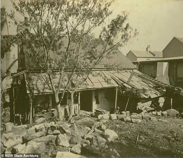 A home is seen in Sydney during the outbreak of the plague. Many residents were forced to demolish their own houses if they had become infected