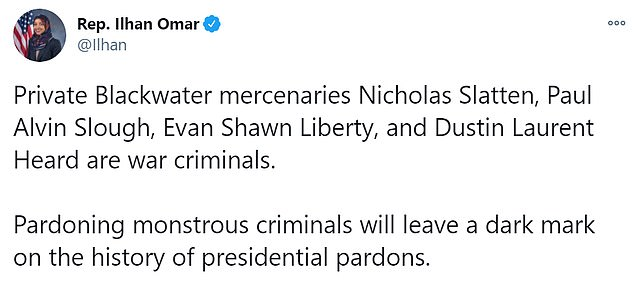 Democrats were quicker to hit out at Trump's pardons on Tuesday night