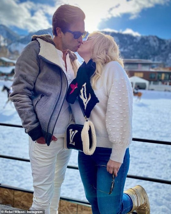 Love is in the air!  Rebel Wilson and boyfriend Jacob Busch got up on a private plane on Wednesday after enjoying a romantic trip to Aspen