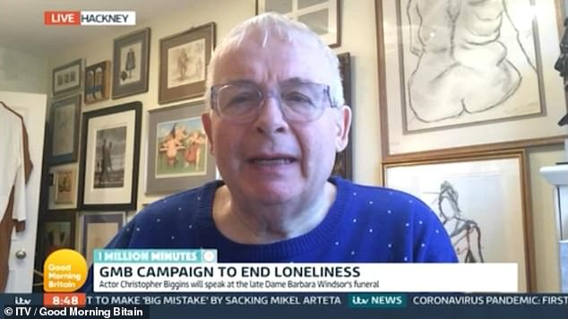 'He's a saint':Christopher Biggins praised Barbara Windsor's 'extraordinary' husband Scott Mitchell, 57, during an interview on Wednesday's Good Morning Britain