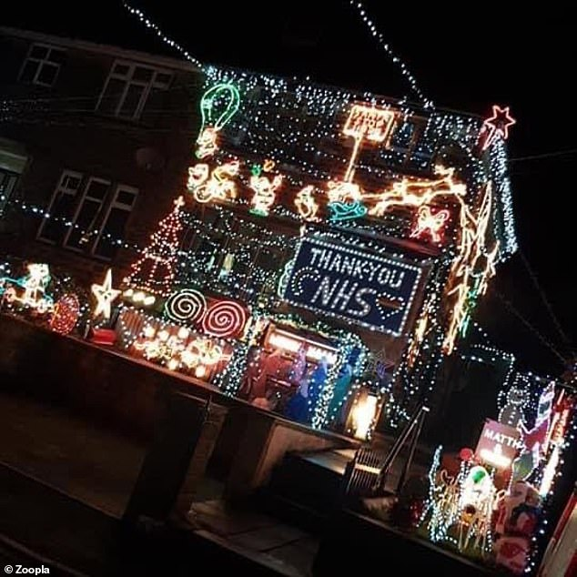This homeowner, from Bradford, Yorkshire, took the opportunity to pay tribute to the incredible work of NHS workers amid the pandemic