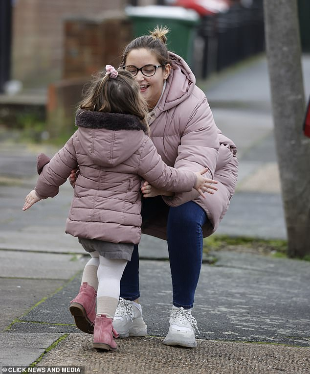 Family time:Jacqueline, who also shares daughter Ella, five, with her husband Dan Osborne, shared her sadness when A Christmas Carol was cut short due to new restrictions