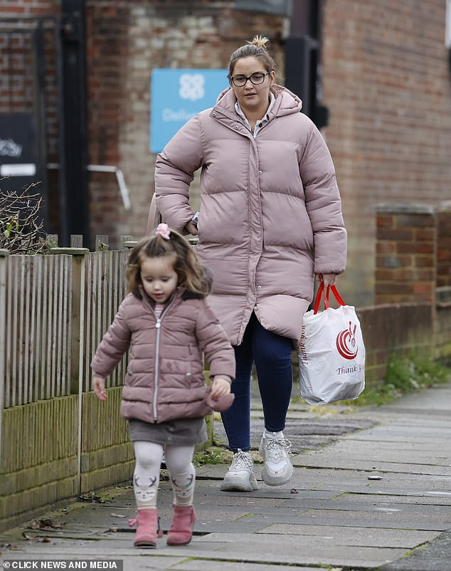 Trip for two:Jacqueline Jossa is making the most of extra time with her family, hitting the shops for some essentials with her youngest daughter Mia, two, on Wednesday