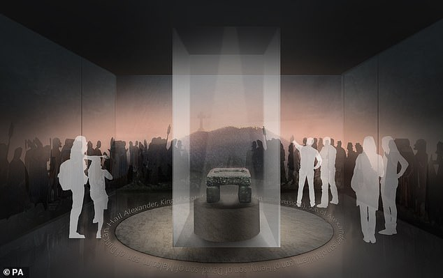 Construction is due to begin in February at the City Hall museum in Perth, which is scheduled to open in 2024 following a multi-million pound refurbishment project. Pictured: A computer generated image of the facility where it will stand