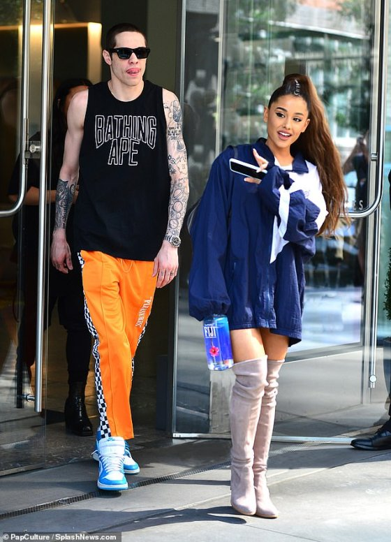 Short-lived love: Pete broke off his relationship with Cazzie because of the text and started walking quickly with Grande, before covering all his tattoos dedicated to her;  seen in 2018 with Grande