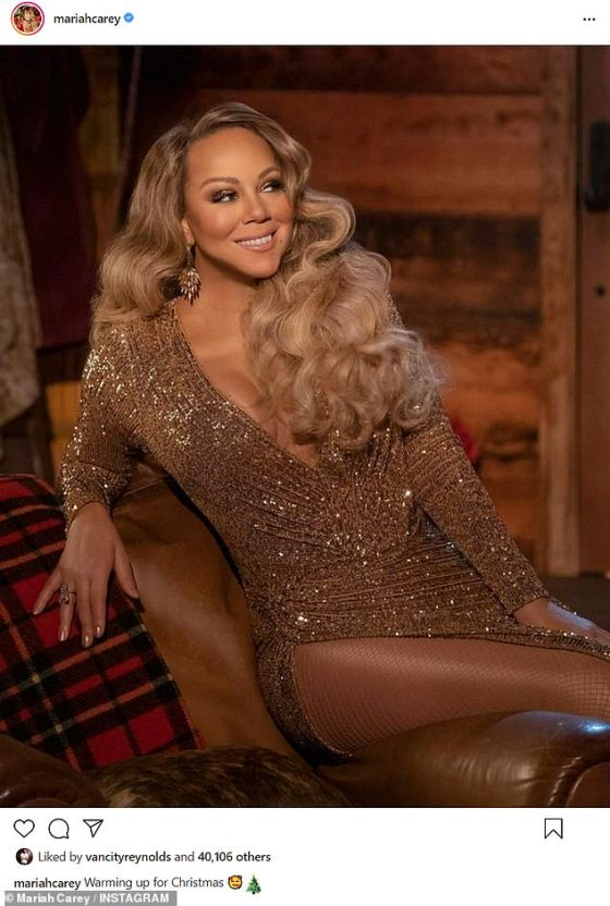 Always a favorite: Mariah has been in her element since the start of the holiday season, as her perennial popular album Merry Christmas (1994) rocketed the charts again
