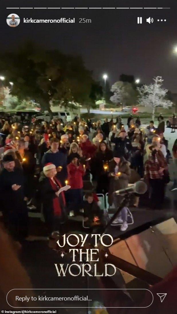 Caroline sang Joy to the World without a Mask amid Coronovirus cases in California