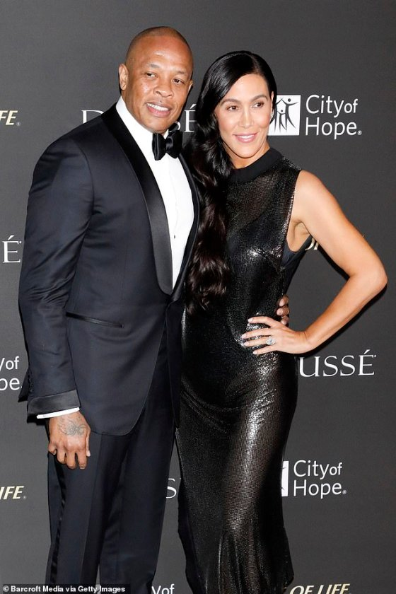 Disputed: Young claimed that Dre (real name: Andre Young) had previously terminated the agreement shortly after they were married, although he denied her request;  seen in 2018
