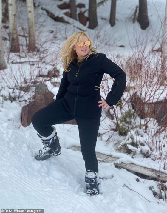 Calorie reduction: The Australian actress definitely looked slimmer in photos, despite wearing bulky winter gear, including a heavy coat