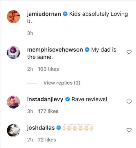 'Delighted Critics!': Jamie's famous friends and fans were quick to comment on his gala video, and one person said he was performing in front of a 'hard crowd'