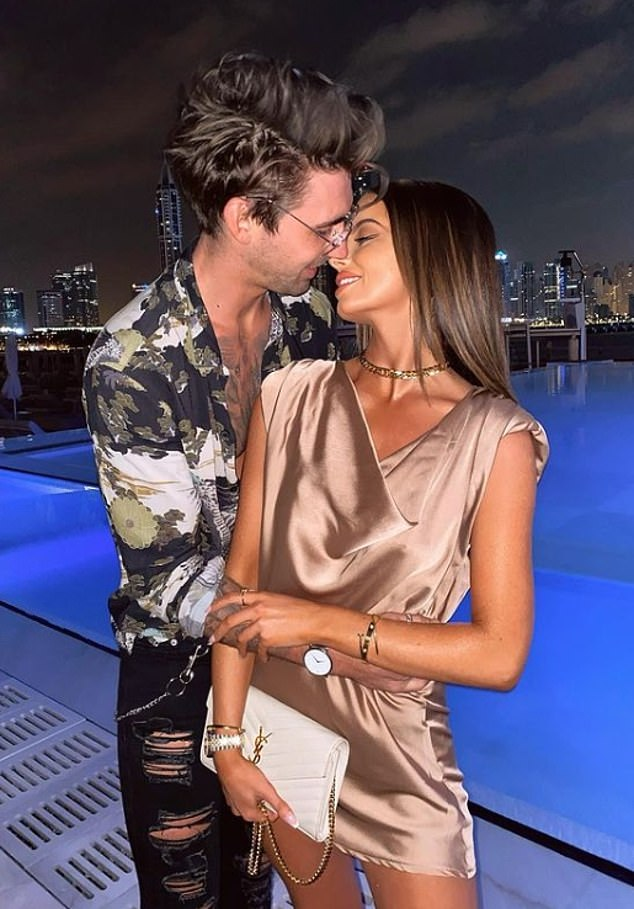 Emerging romance: The couple have been virtually inseparable since best friends revealed their relationship on November 24, after landing in the UAE