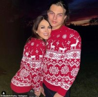 Elizabeth Hurley and her son Damian sport matching festive jumpers and go stargazing