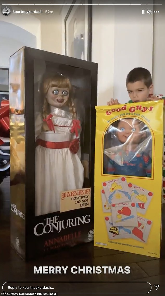 Horror fanatic:Due to Reign's unconventional taste in toys, the 41-year-old POOSH founder decided to showcase the horror-themed presents she snatched up for him