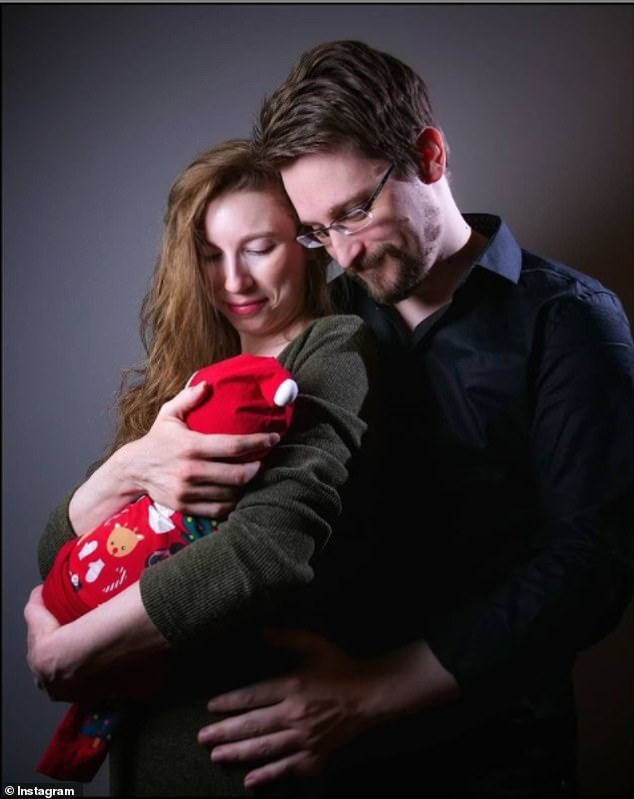 Whistleblower Edward Snowden and wife Lindsay Mills reveal pics of their new baby