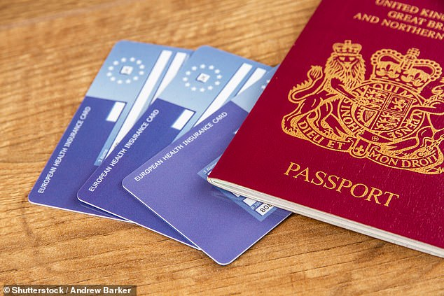 British holidaymakers carrying a European Health Insurance Card will still be able to access free healthcare abroad after the Brexit transition period ends (file image)