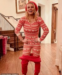 Jessica Simpson sports matching Christmas pyjamas with daughter Maxwell