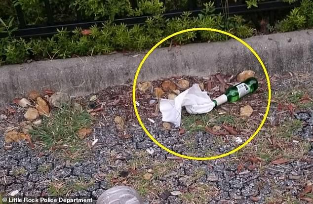 Some of the alleged Molotov cocktails were found on the ground, unexploded