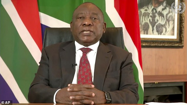 The book claims that South Africa¿s President Cyril Ramaphosa is a member of a breeding programme that has raked in millions of pounds selling rare animals to trophy-hunters