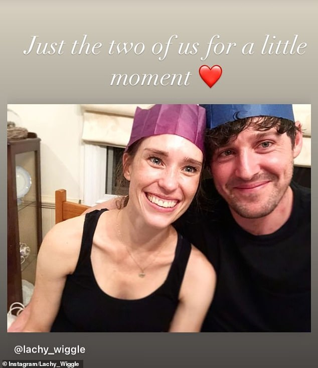 Special moment: Dana, who also has a son named Jasper, four, reposted the image to her own Instagram account, adding a caption that read: 'just the two of us for a little moment [love heart emoji]