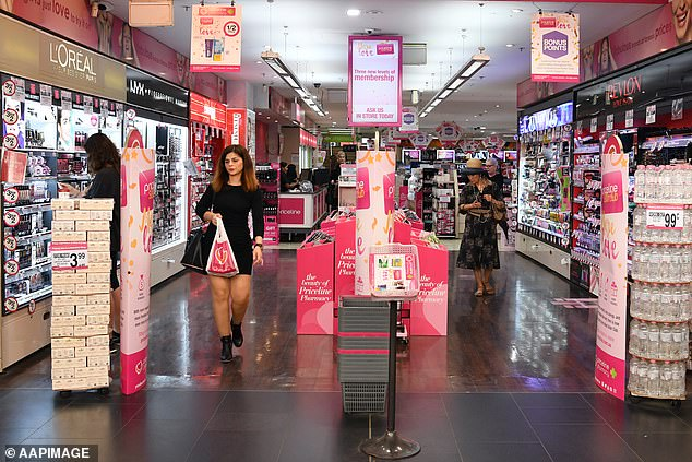 Shoppers who were at the Priceline at Casula Mall between 6.30pm and 7pm on Christmas Eve must get tested and isolate until they receive a negative result (file of a Priceline store)