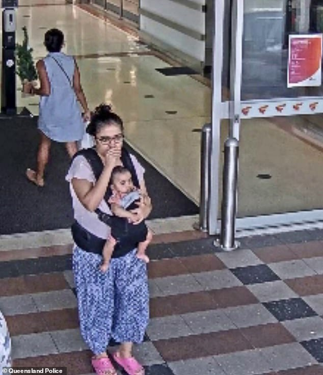 Ms Neupane - shown in the video with the baby in a carrier - is now assisting police with their investigation