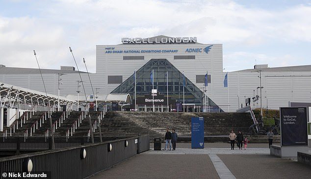 The Excel Centre in East London that had previously been turned into Nightingale hospital to help support the NHS. London is currently in Tier 4 in Covid 19 restrictions due to new strain