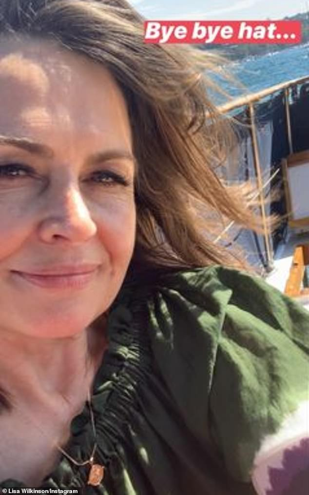 Gone with the wind: The Sunday Project host told Instagram fanshow the hat she has worn on holidays for years was whisked away by the wind, just moments after her photo was taken