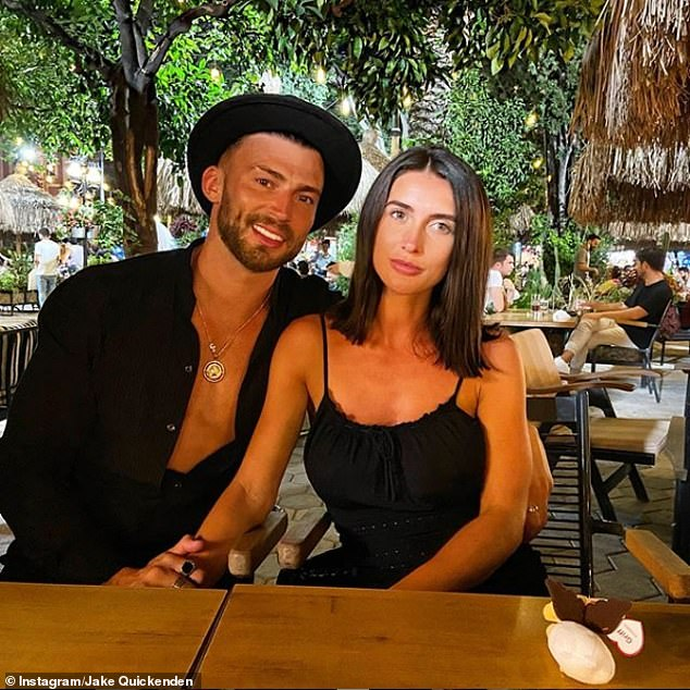 Happy couple:The former X Factor contestant, 32, said he was 'so proud' of his partner as he counted down the weeks until he becomes a father