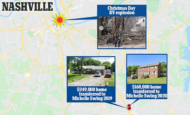 Warner's two properties are located just a 15 minute drive from where the bomb exploded